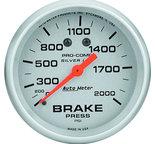 "Autometer Gauge, Brake Press, 2 5/8"", 2000psi, Liquid Filled Mech, Ultra-Lite 4626"