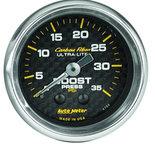 "Autometer Gauge, Boost, 2 1/16"", 35psi, Mechanical, Carbon Fiber 4704"