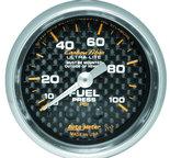 "Autometer Gauge, Fuel Pressure, 2 1/16"", 100psi, Mechanical, Carbon Fiber 4712"
