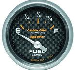 "Autometer Gauge, Fuel Level, 2 1/16"", 0?E to 90?F, Elec, Carbon Fiber 4714"