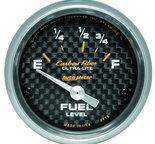 "Autometer Gauge, Fuel Level, 2 1/16"", 73?E to 10?F, Elec, Carbon Fiber 4715"