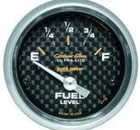 "Autometer Gauge, Fuel Level, 2 1/16"", 240?E to 33?F, Elec, Carbon Fiber 4716"