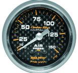"Autometer Gauge, Air Pressure, 2 1/16"", 150psi, Mechanical, Carbon Fiber 4720"