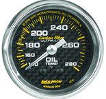 "Autometer Gauge, Oil Temp, 2 1/16"", 140-280şF, Mechanical, Carbon Fiber 4741"