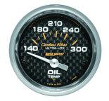 """Autometer Gauge, Oil Temp, 2 1/16"""", 140-300şF, Electric, Carbon Fiber 4748"""