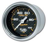 """Autometer Gauge, Fuel Pressure, 2 1/16"""", 100psi, Digital Stepper Motor, Carbon Fiber 4763"""