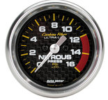 "Autometer Gauge, Nitrous Pressure, 2 1/16"", 1600psi, Digital Stepper Motor, Carbon Fiber 4774"