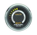 """Autometer Gauge, Air/Fuel Ratio-Narrowband, 2 1/16"""", Lean-Rich, LED Array, Carbon Fiber 4775"""