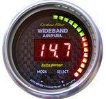 "Autometer Gauge, Air/Fuel Ratio-PRO, 2 1/16"", 10:1-20:1, Digital w/ Peak & Warn, Carbon Fiber 4778"