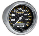 "Autometer Gauge, Speedometer, 3 3/8"", 160mph, Elec. Programmable, Carbon Fiber 4789"