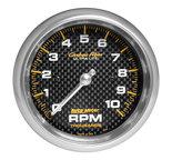 "Autometer Gauge, Tachometer, 3 3/8"", 10k RPM, In-Dash, Carbon Fiber 4798"