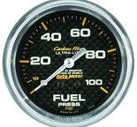 "Autometer Gauge, Fuel Pressure, 2 5/8"", 15psi, Mechanical, Carbon Fiber 4811"