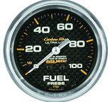 "Autometer Gauge, Fuel Pressure, 2 5/8"", 100psi, Mechanical, Carbon Fiber 4812"