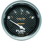 "Autometer Gauge, Fuel Level, 2 5/8"", 0?E to 90?F, Elec, Carbon Fiber 4814"