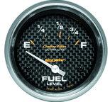 "Autometer Gauge, Fuel Level, 2 5/8"", 73?E to 10?F, Elec, Carbon Fiber 4815"