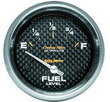 "Autometer Gauge, Fuel Level, 2 5/8"", 240?E to 33?F, Elec, Carbon Fiber 4816"