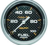 """Autometer Gauge, Fuel Pressure, 2 5/8"""", 100psi, Digital Stepper Motor, Carbon Fiber 4863"""
