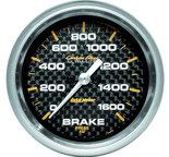 """Autometer Gauge, Brake Pressure, 2 5/8"""", 1600psi, Digital Stepper Motor, Carbon Fiber 4867"""