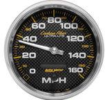 "Autometer Gauge, Speedometer, 5"", 160mph, Elec. Programmable, Carbon Fiber 4889"