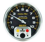 "Autometer Gauge, Tachometer, 5"", 10k RPM, In-Dash w/ Peak Memory, Carbon Fiber 4894"