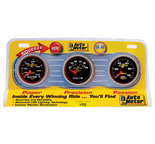 "Autometer Gauge Kit, 3 pc., OILP/WTMP/VOLT, 2 1/16"" 100psi/240şF/18V, Mech., Ultra-Lite II 4900"