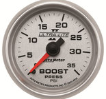 "Autometer Gauge, Boost, 2 1/16"", 35psi, Mechanical, Ultra-Lite II 4904"