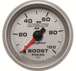 "Autometer Gauge, Boost, 2 1/16"", 100psi, Mechanical, Ultra-Lite II 4906"