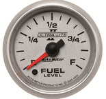 "Autometer Gauge, Fuel Level, 2 1/16"", 0-280? Programmable, Ultra-Lite II 4910"