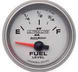 "Autometer Gauge, Fuel Level, 2 1/16"", 0?E to 90?F, Elec, Ultra-Lite II 4913"