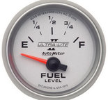 "Autometer Gauge, Fuel Level, 2 1/16"", 240?E to 33?F, Elec, Ultra-Lite II 4916"
