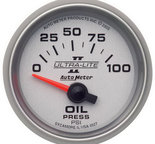 "Autometer Gauge, Oil Pressure, 2 1/16"", 100psi, Electric, Ultra-Lite II 4927"