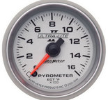 "Autometer Gauge, Pyrometer (EGT), 2 1/16"", 1600şF, Digital Stepper Motor, Ultra-Lite II 4944"
