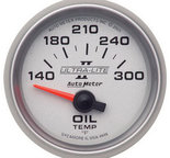 "Autometer Gauge, Oil Temp, 2 1/16"", 140-300şF, Electric, Ultra-Lite II 4948"