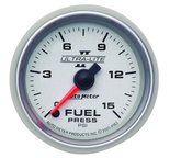 "Autometer Gauge, Fuel Pressure, 2 1/16"", 15psi, Digital Stepper Motor, Ultra-Lite II 4961"