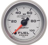"Autometer Gauge, Fuel Pressure, 2 1/16"", 100psi, Digital Stepper Motor, Ultra-Lite II 4963"