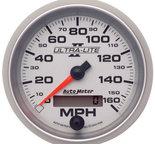 "Autometer Gauge, Speedometer, 3 3/8"", 160mph, Elec. Programmable, Ultra-Lite II 4988"