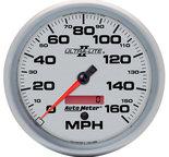 "Autometer Gauge, Speedometer, 5"", 160mph, Elec. Programmable, Ultra-Lite II 4989"