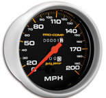 "Autometer Gauge, Speedometer, 5"", 200mph, Mechanical, Pro-Comp 5156"