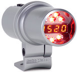 Autometer Shift Light, Digital w/ Amber LED, Silver, Pedestal Mount, DPSS Level 1 5344