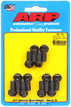 "ARP SB Chevy 3/8 x .750"" drilled hex header bolt kit 1001103"