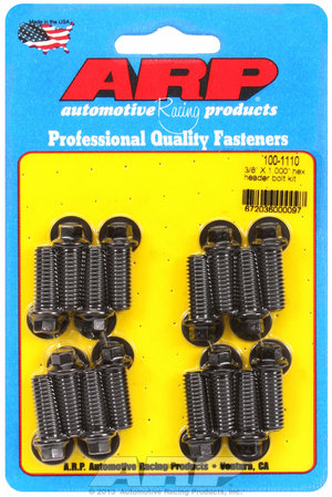 "ARP 3/8 X 1.000"" hex header bolt kit 1001110"