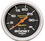 "Autometer Gauge, Boost Press, 2 5/8"", 35psi, Liquid Filled Mech, Pro-Comp 5404"
