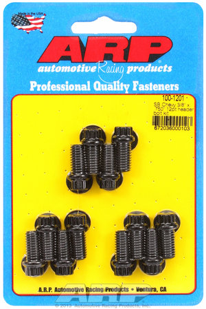"ARP SB Chevy 3/8 x .750"" 12pt header bolt kit 1001201"