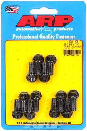 "ARP SB Chevy 3/8 x .750"" drilled 12pt header bolt kit 1001203"