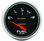 "Autometer Gauge, Fuel Level, 2 5/8"", 0?E to 90?F, Elec, Pro-Comp 5415"