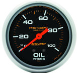 "Autometer Gauge, Oil Press, 2 5/8"", 100psi, Liquid Filled Mech, Pro-Comp 5421"