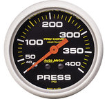"Autometer Gauge, Pressure, 2 5/8"", 400psi, Liquid Filled Mech, Pro-Comp 5424"