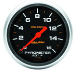 "Autometer Gauge, Pyrometer (EGT), 2 5/8"", 1600şF, Digital Stepper Motor, Pro-Comp 5444"