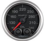 """Autometer Gauge, Oil Temp, 2 1/16"""", 340şF, Stepper Motor w/Peak & Warn, Elite 5640"""