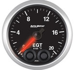 """Autometer Gauge, Pyro. (EGT), 2 1/16"""", 2000şF, Stepper Motor w/Peak & Warn, Elite 5645"""